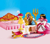 playmobil royal bedroom young princess sits