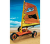 beach racer great exciting action orange