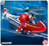 playmobil rescue fire fighting helicopter working