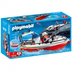 playmobil fire boat trailer floats water