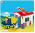 playmobil truck garage loading here used